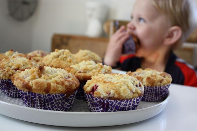 muffins fyllda med hallon