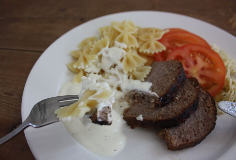 köttfärslimpa färskostsås (1)