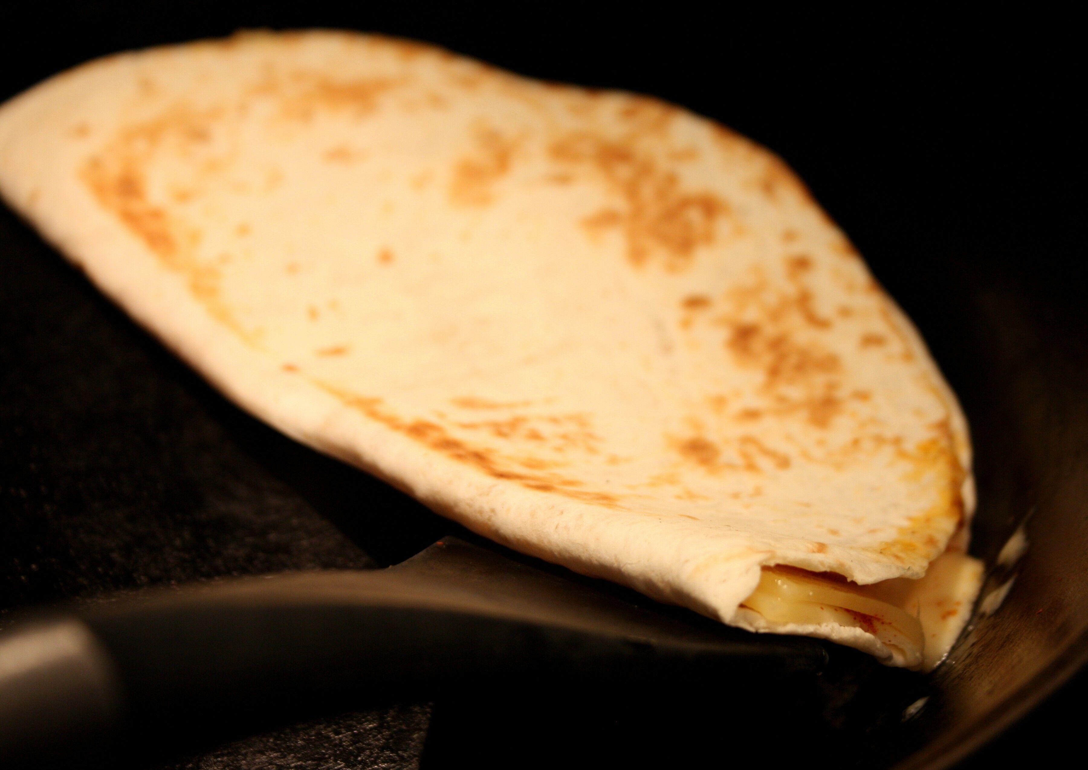 tortilla ost och skinka