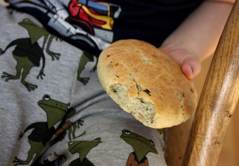 babyspenat bröd