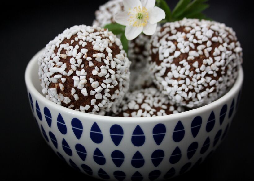 jordgubb chokladboll