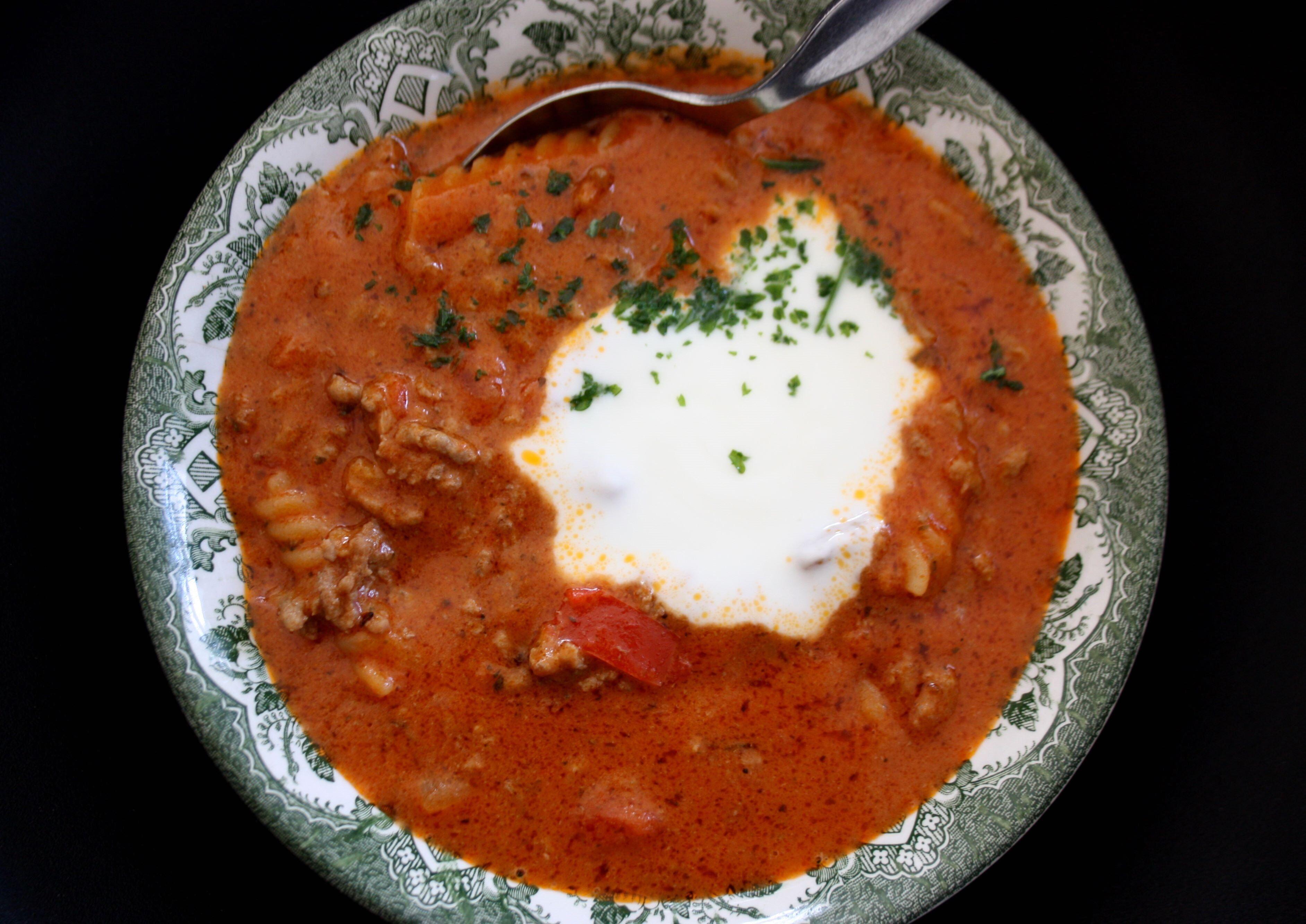 köttfärssoppa paprika