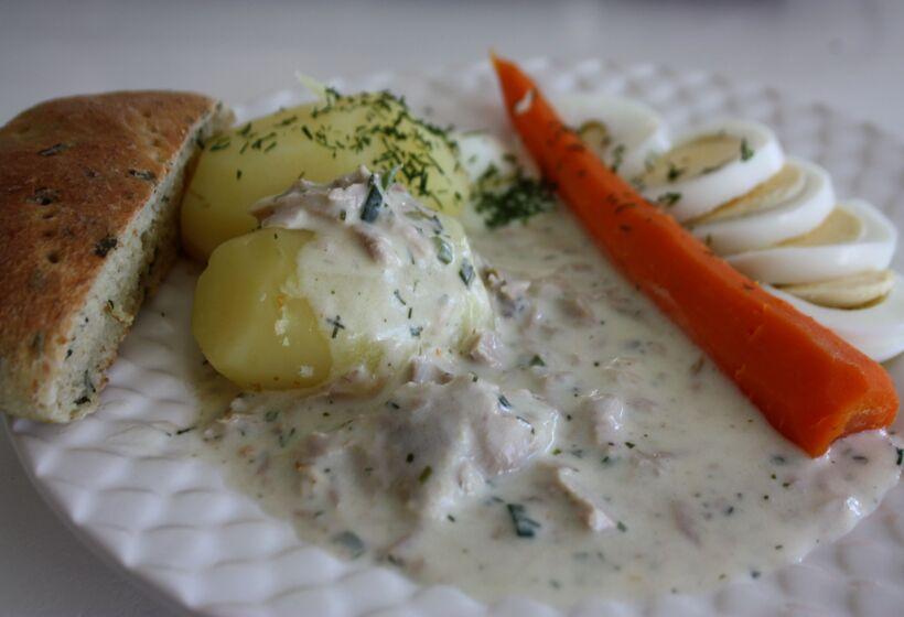 recept med tonfisk grädde