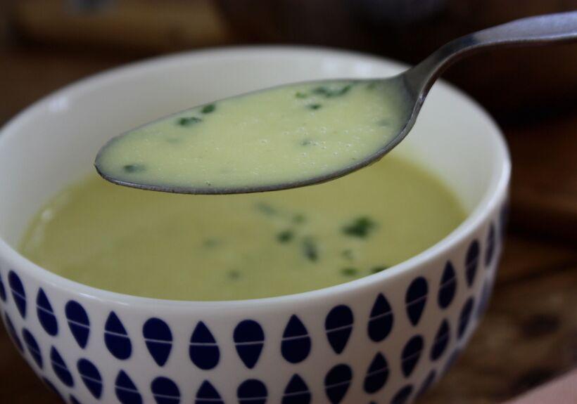 potatis och purjolökssoppa