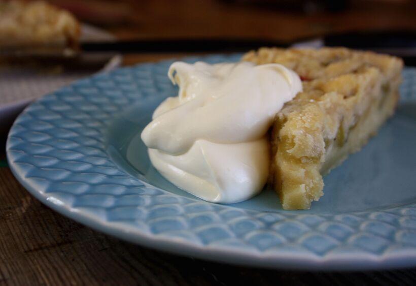 vaniljvisp rabarberkaka