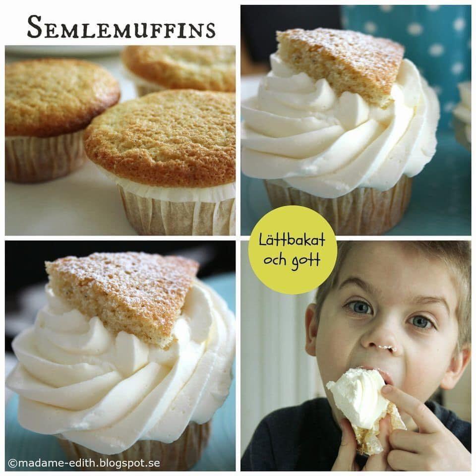 grädda muffins semla