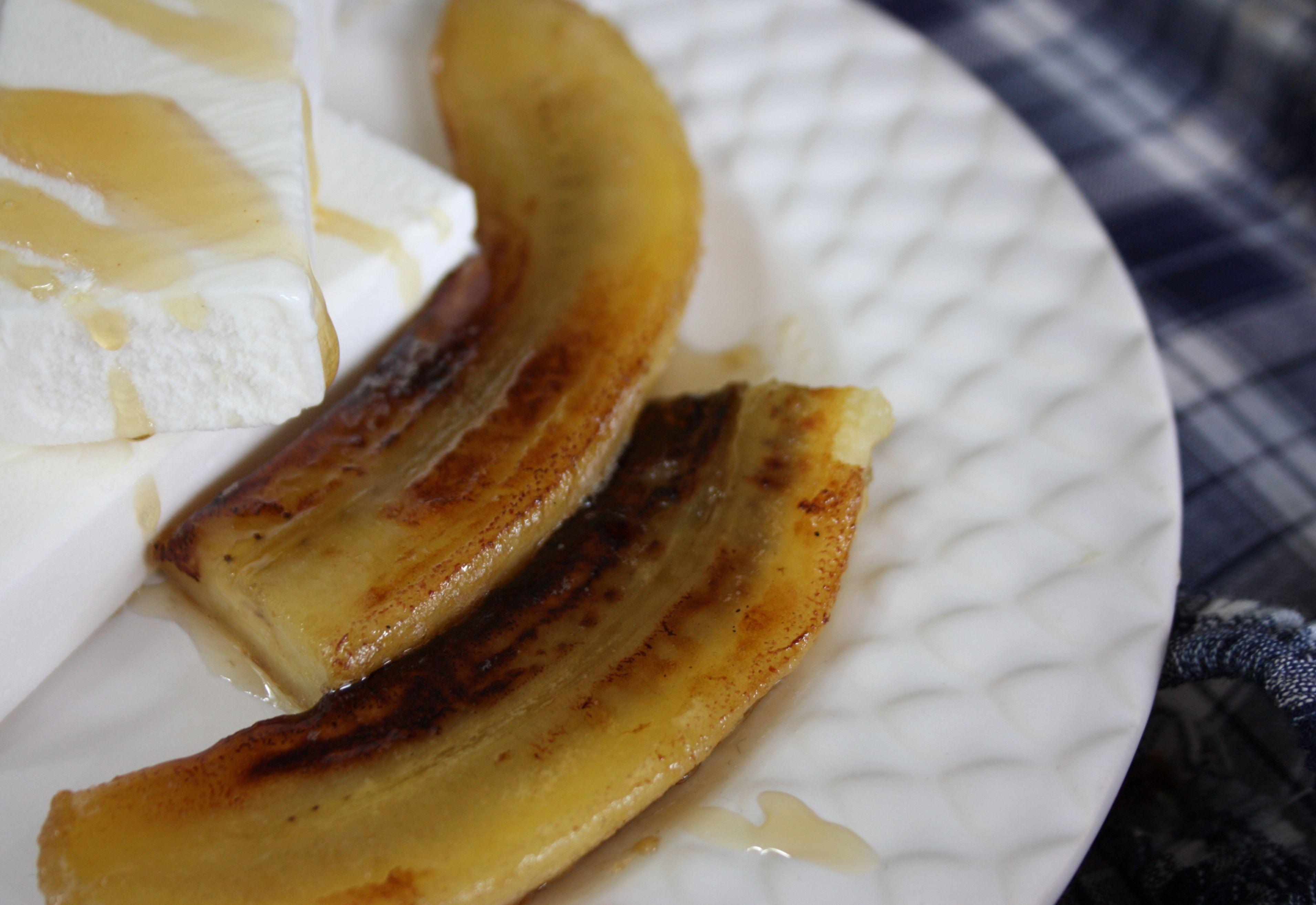 stekt banan sirap