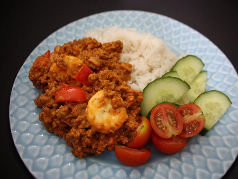 köttfärs curry