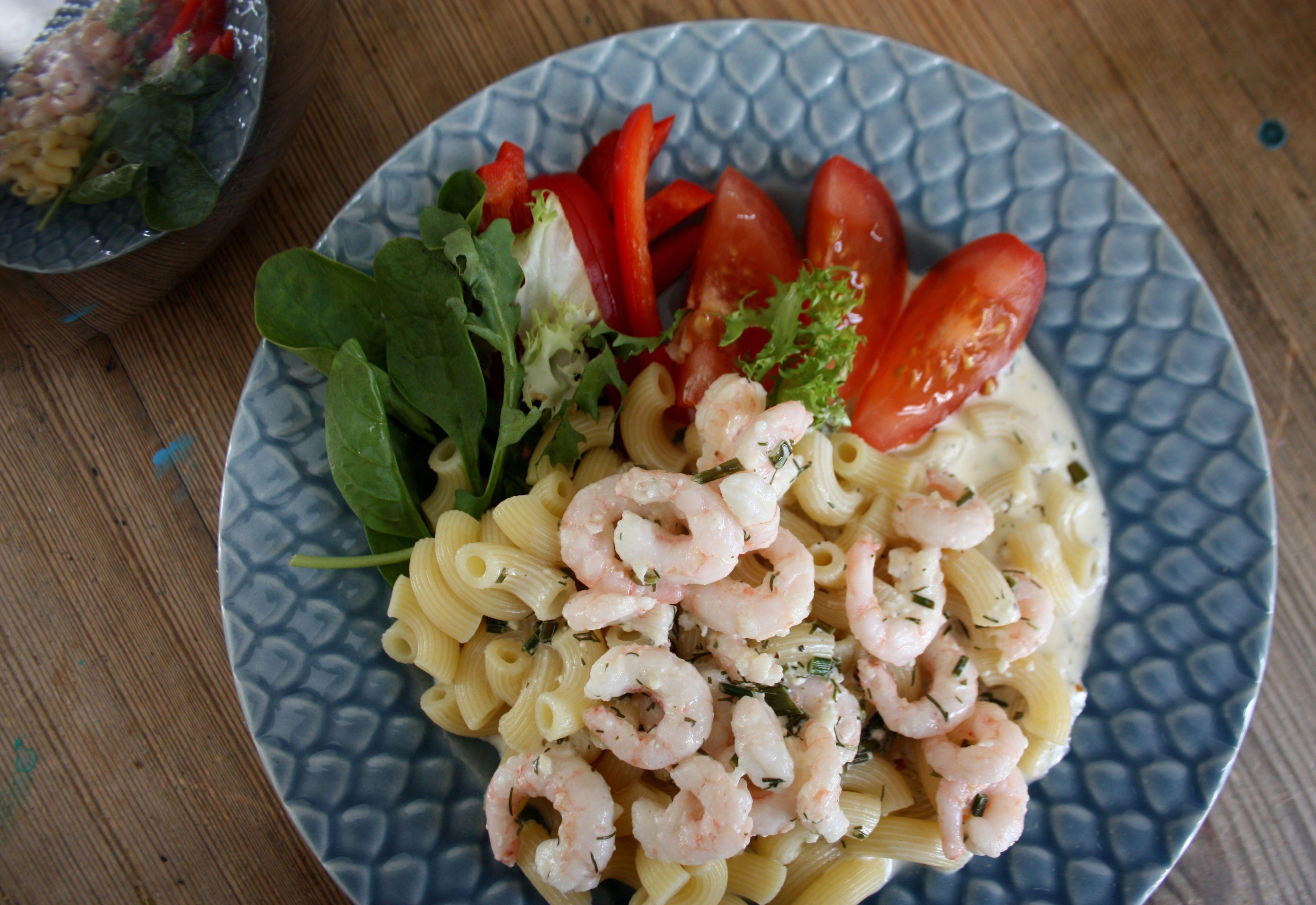 skaldjur pasta räkor