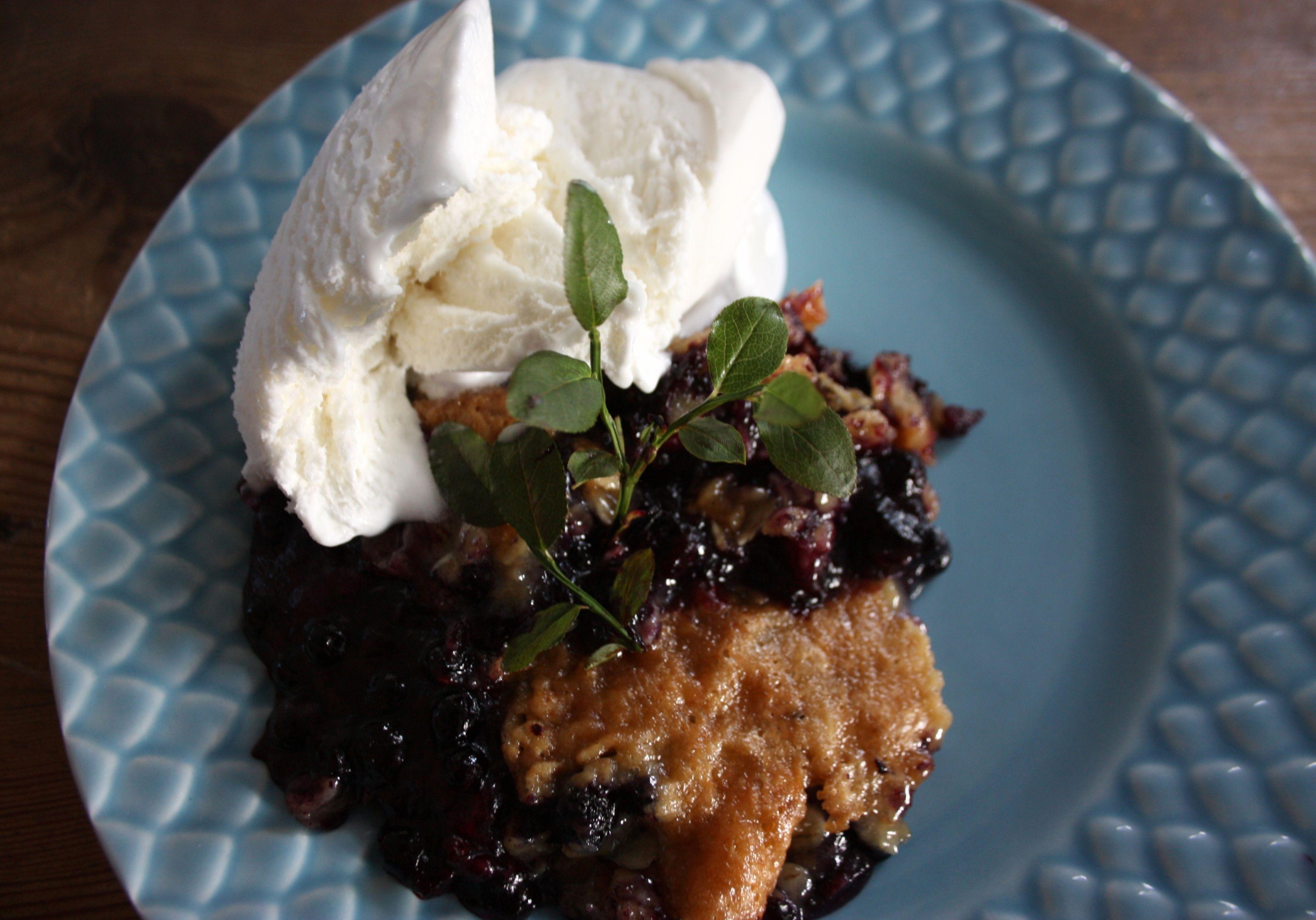 knäckig blåbärspaj recepten