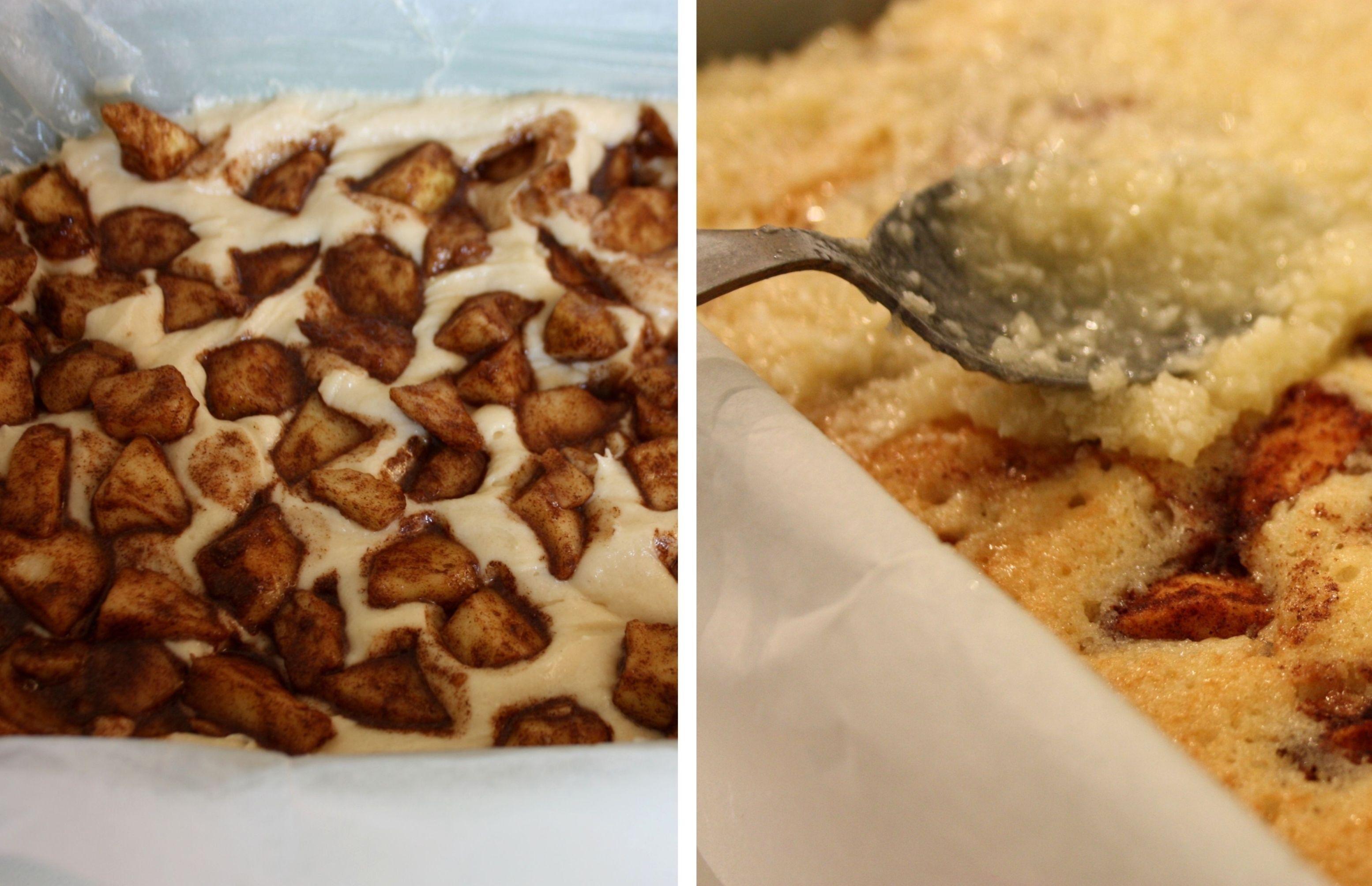 kokosglasyr äppelkaka