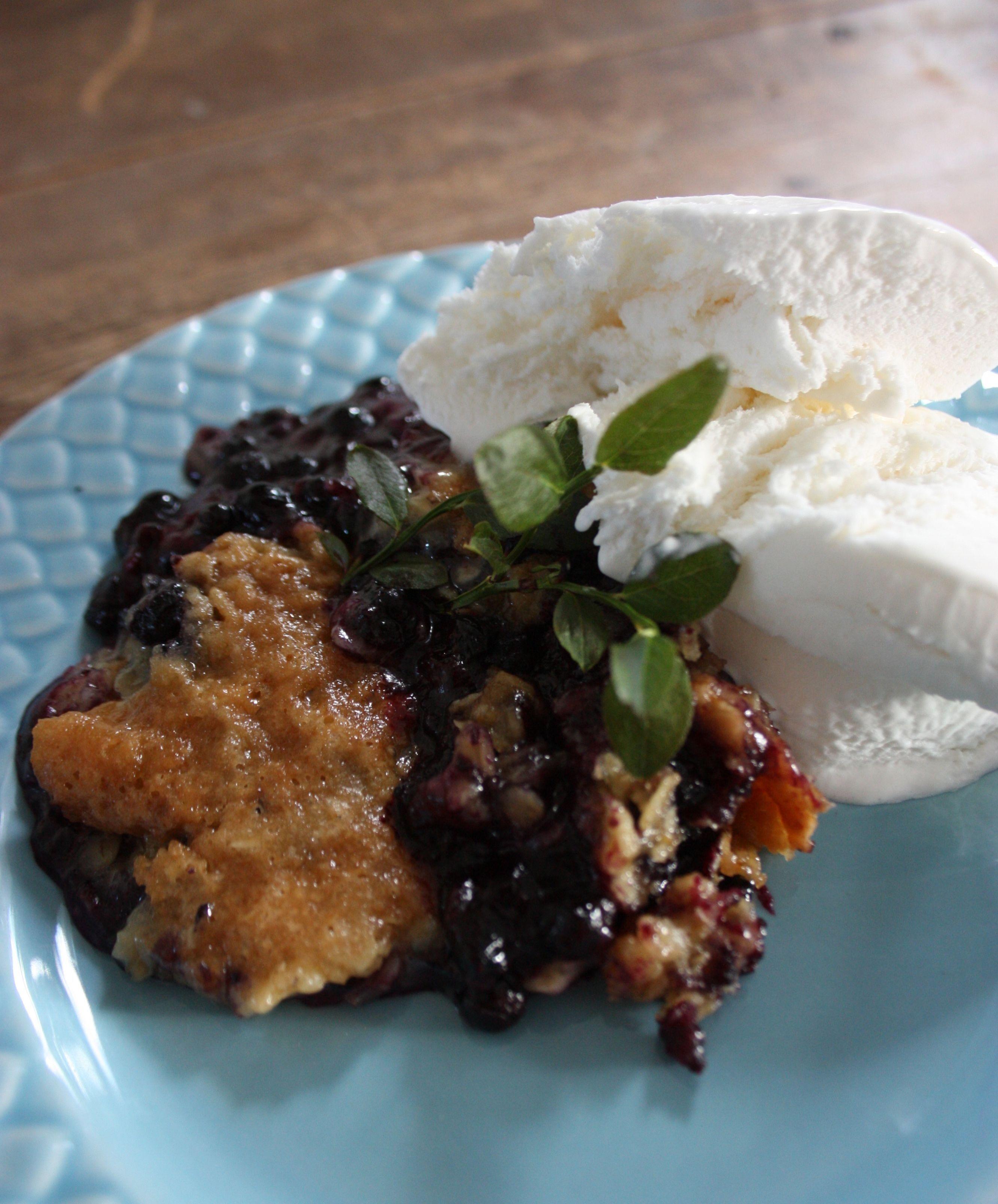 recepten knäckig blåbärspaj