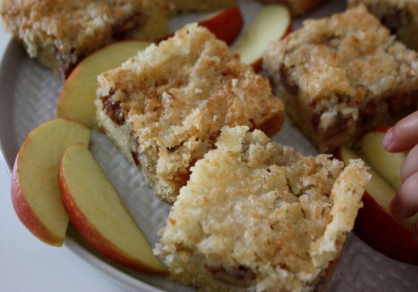 saftig äppelkaka rutor