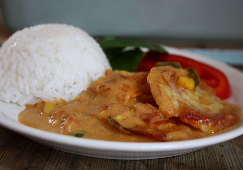 curry falukorv grädde
