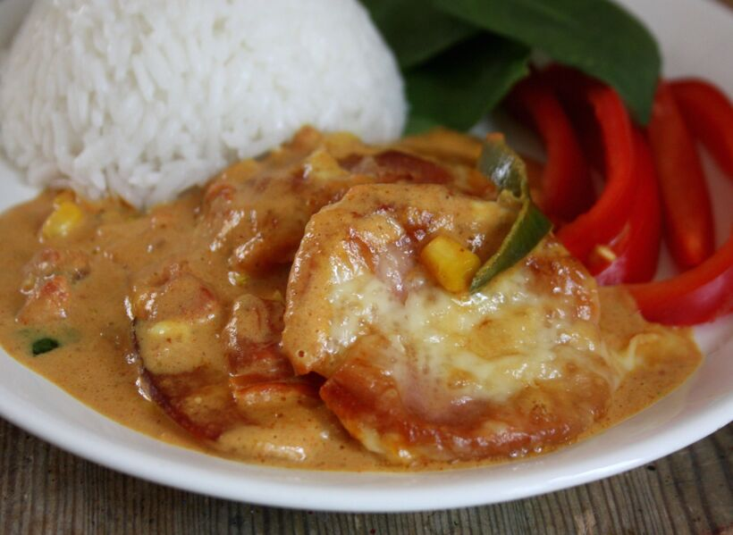 grädde curry korv