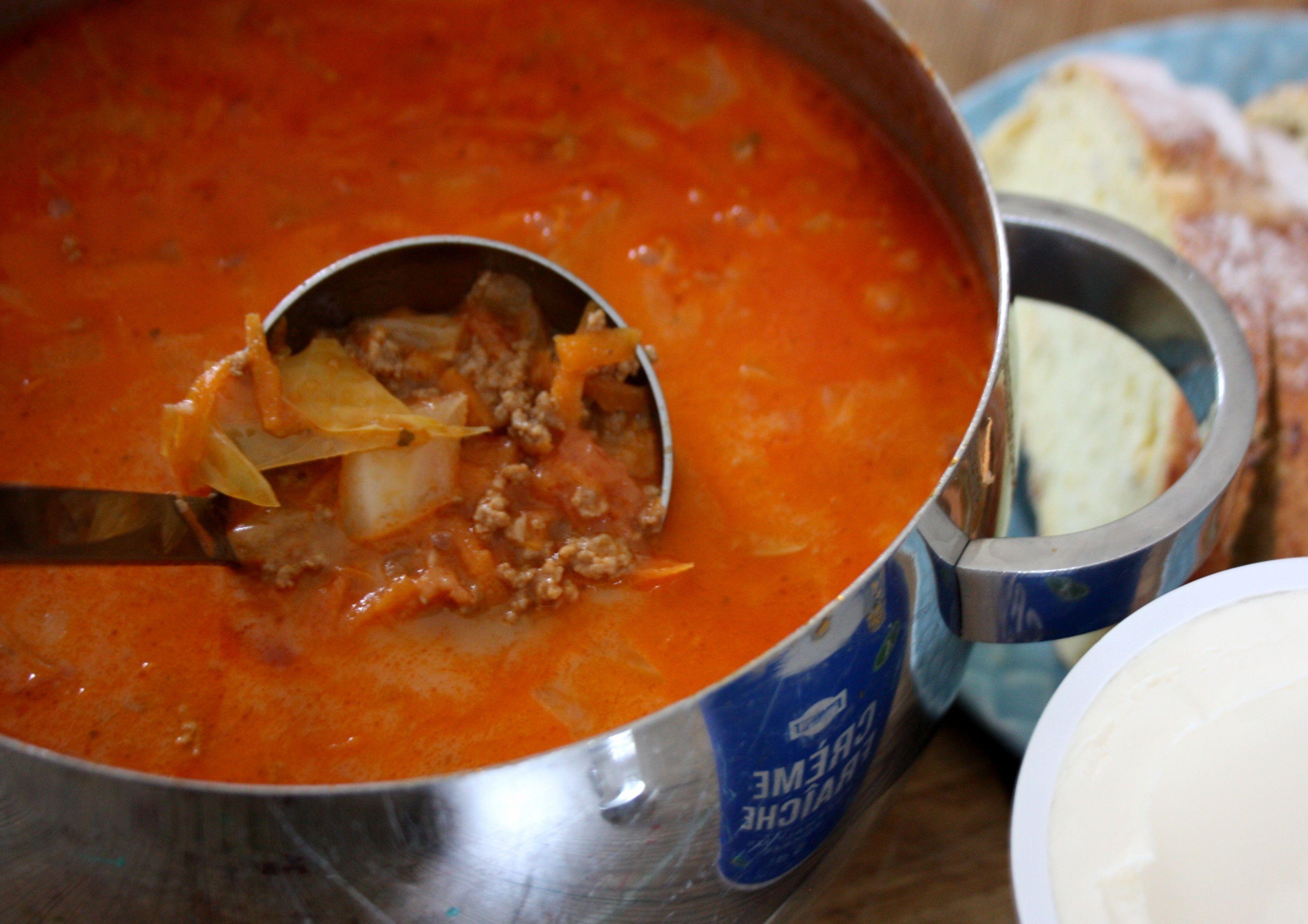 köttfärssoppa vitkål
