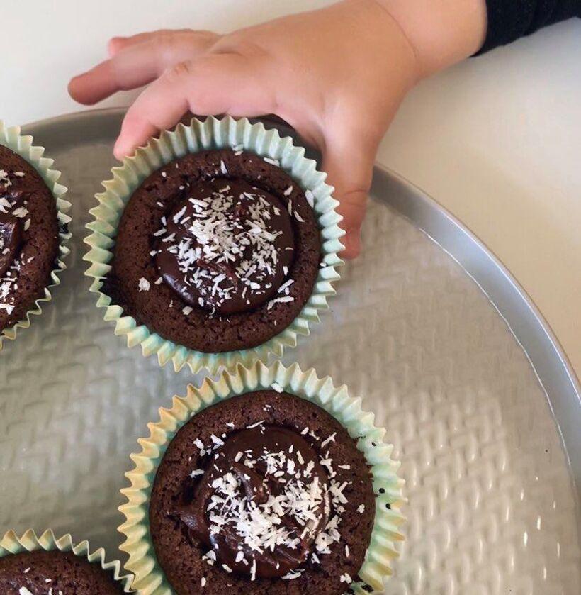muffins kladdkaka glasyr