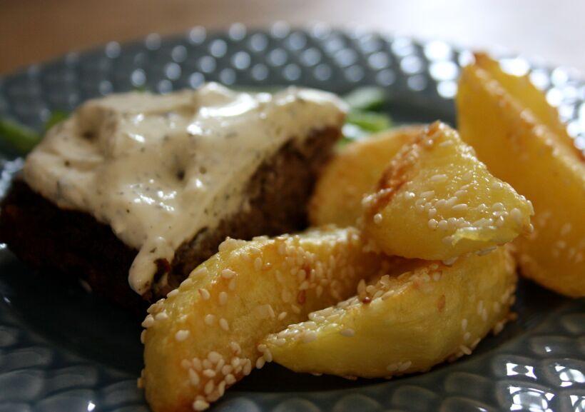 potatis rostad sesamfrön