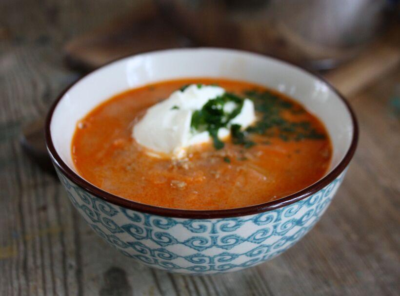 vitkål soppa