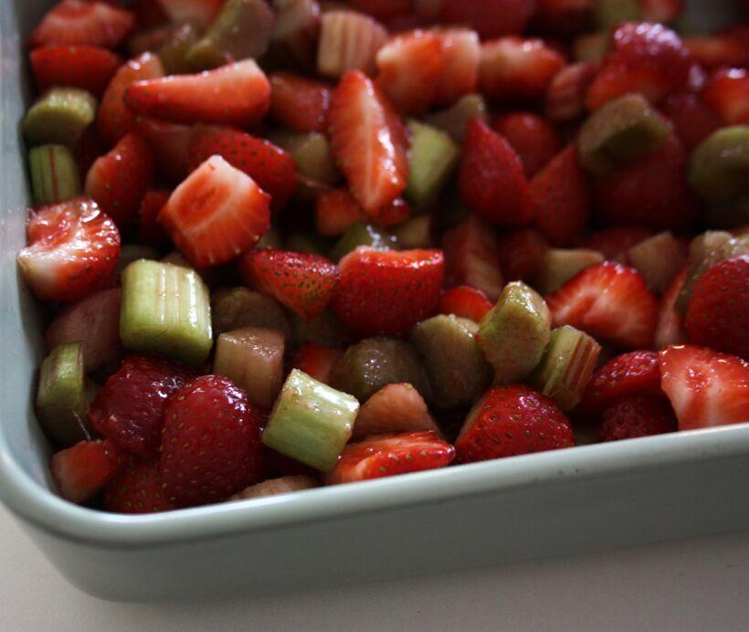 jordgubbspaj rabarber