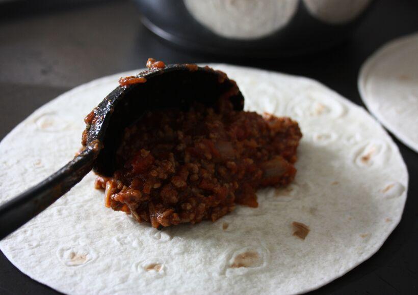 köttfärssås tacobröd