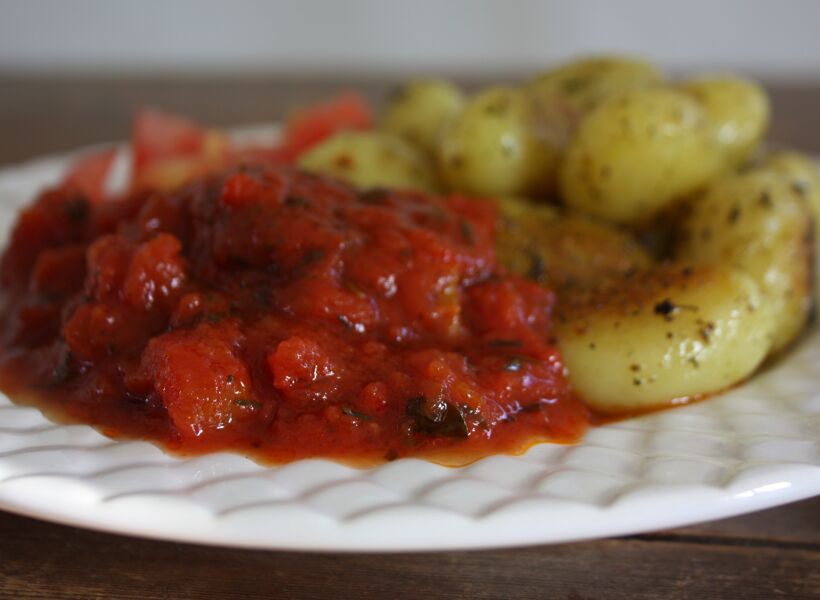 krossade tomatsås tomater