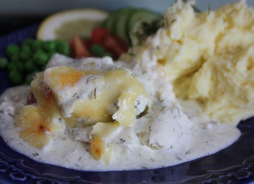 fisk med citronsås