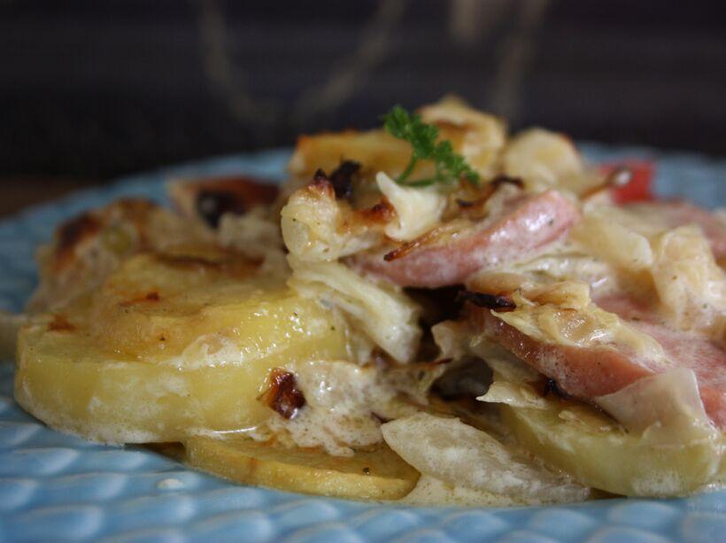 korvgratäng med potatis