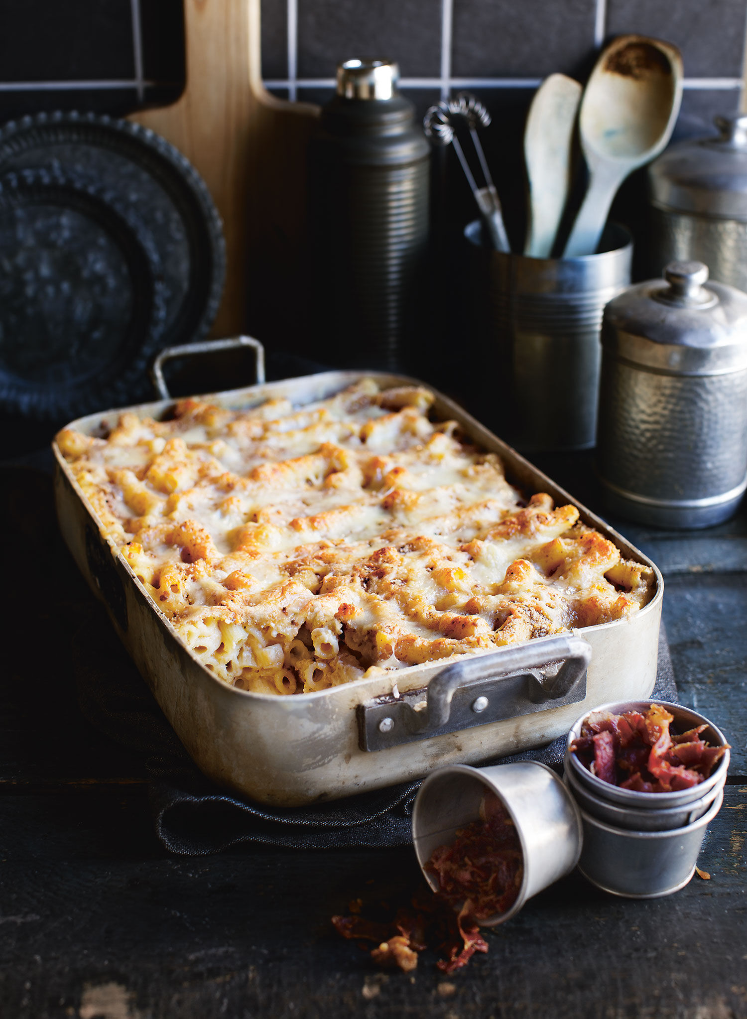 Ugnsform med macaroni and cheese