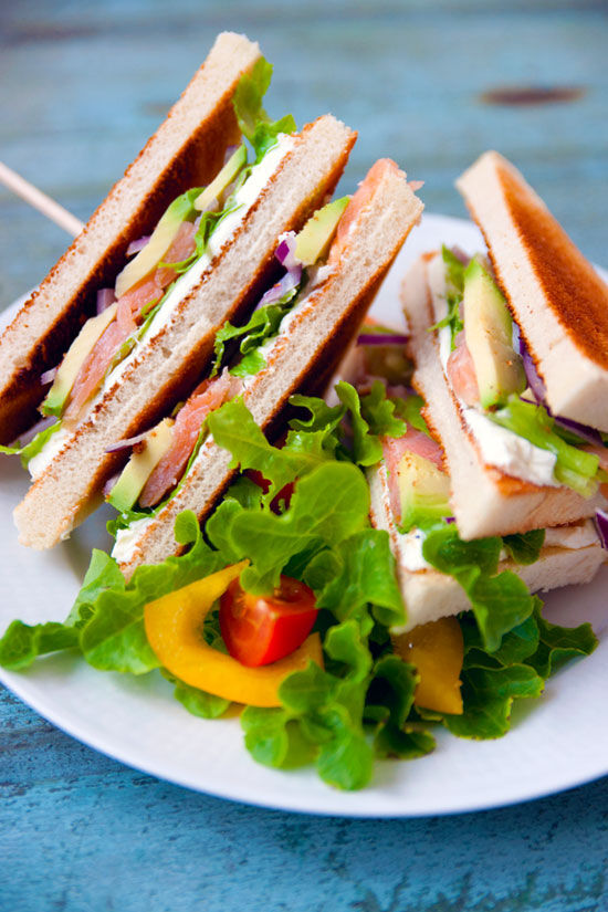 Clubsandwich med lax