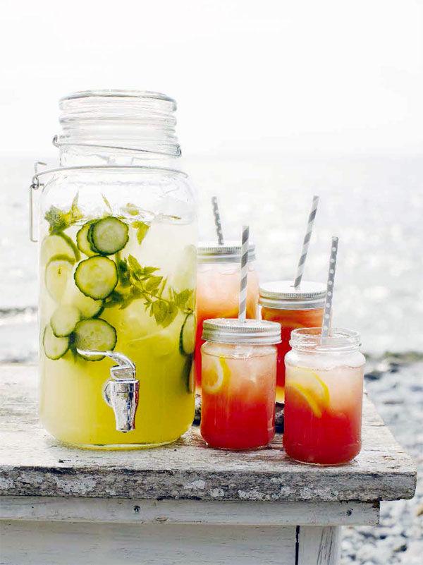 Lemonad med mynta och lime och Watermelon Lemonade