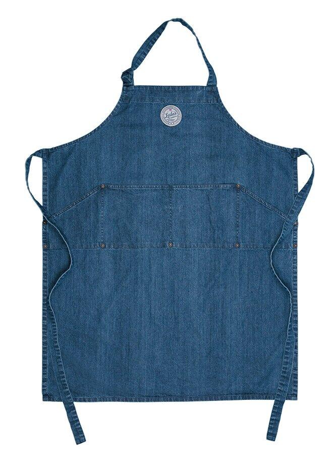 Förkläde i blå demin