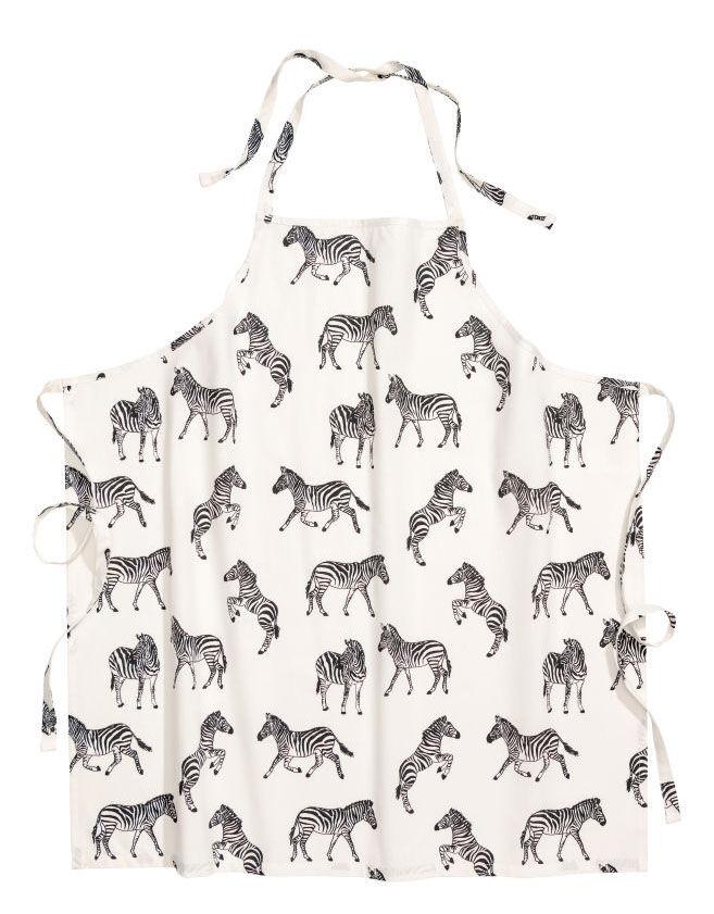 Vit förkläde med zebror