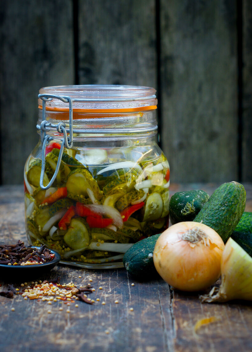 Inlagd gurka Bread and Butter Pickles