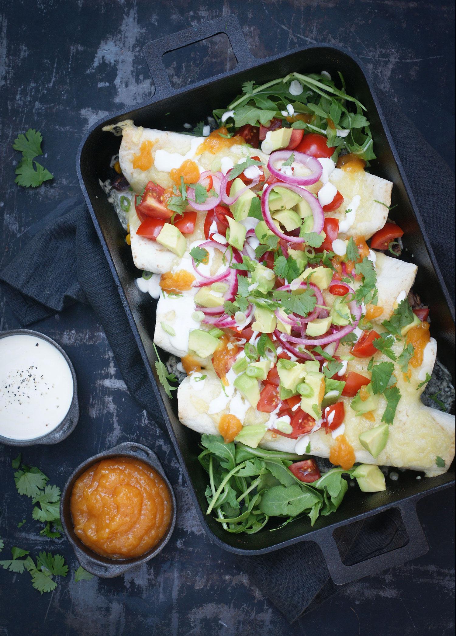 Vegetarisk enchilada