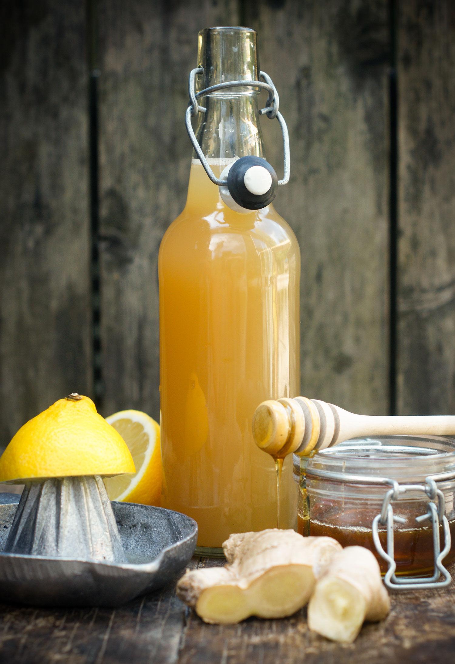 Ingefärsshot med honung och citron