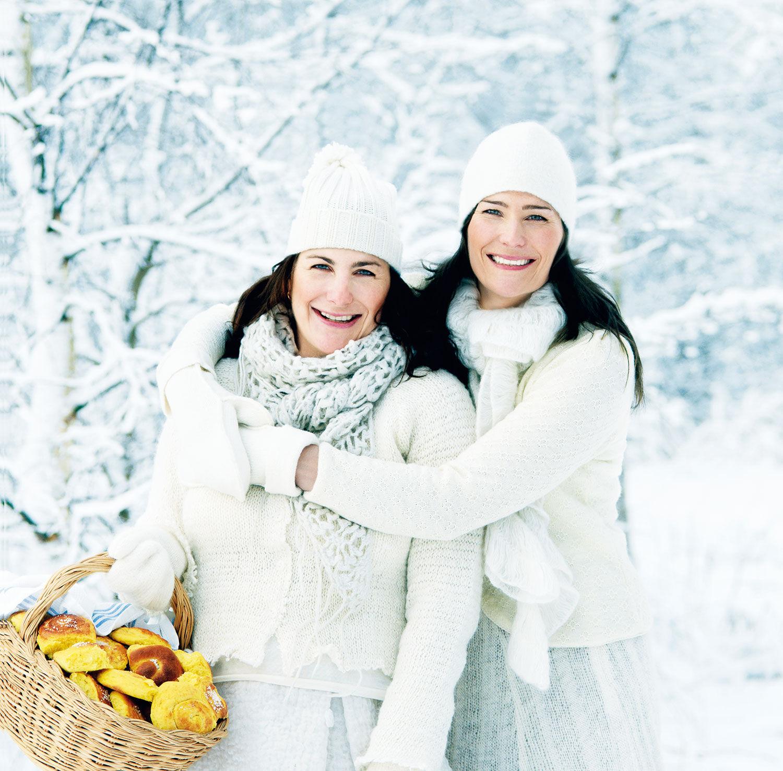 Systrarna Eisenman i ett vinterlandskap