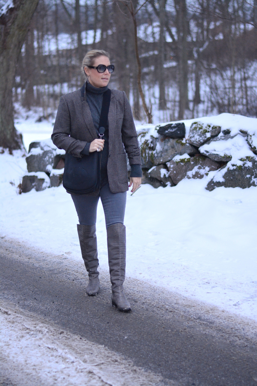 COS klänning, Chloé boots och Hollies jacka   Susanne Histrup