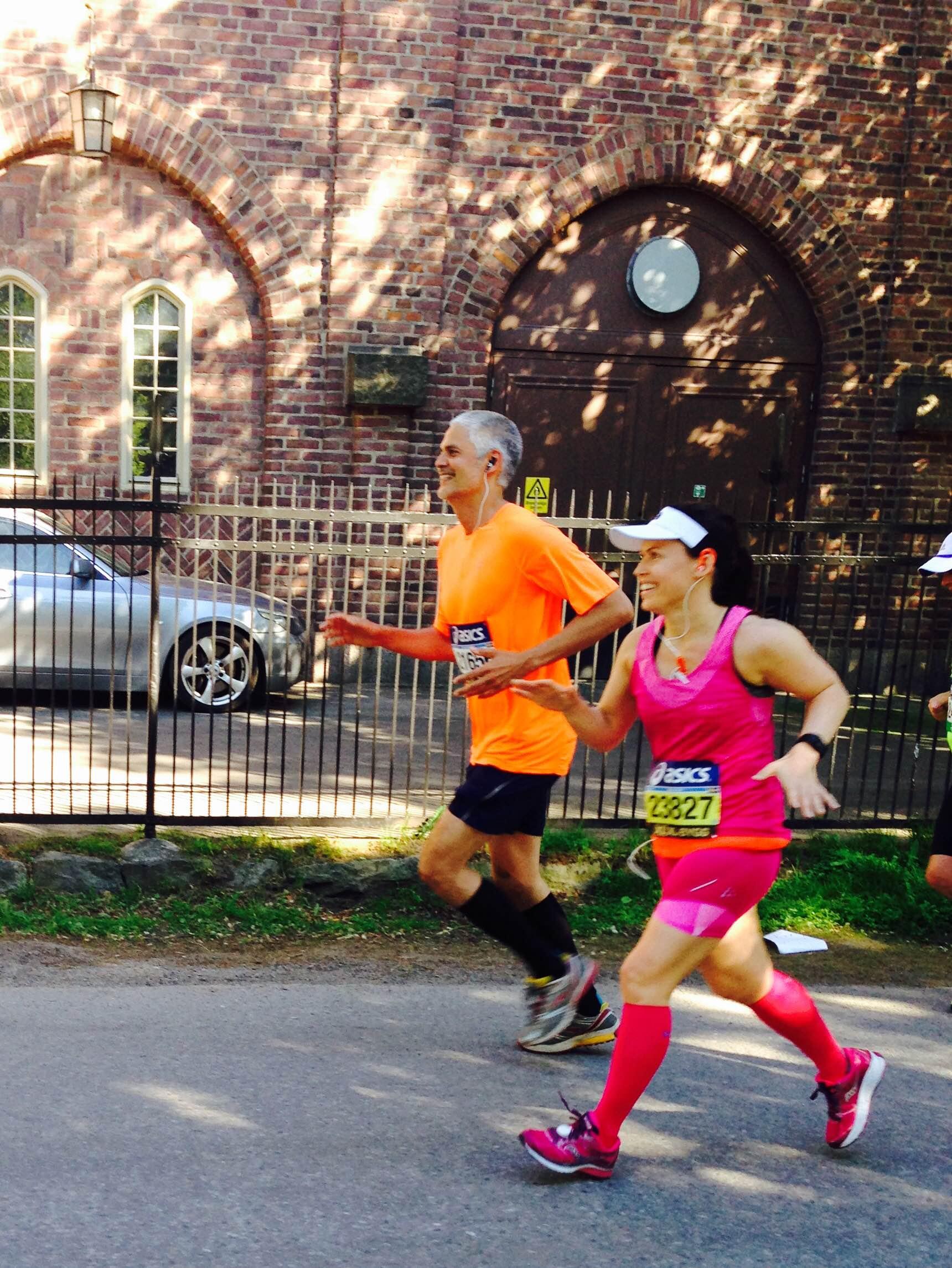 springa sitt första maraton
