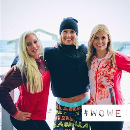 Från vänster: Annie Lundgren, Ida B Olsson och Julia Fors har startat WOWE och arrangerar inspiration och träningsupplevelser för tjejer.