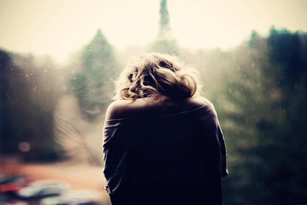 Lonely sad girl alone photography images
