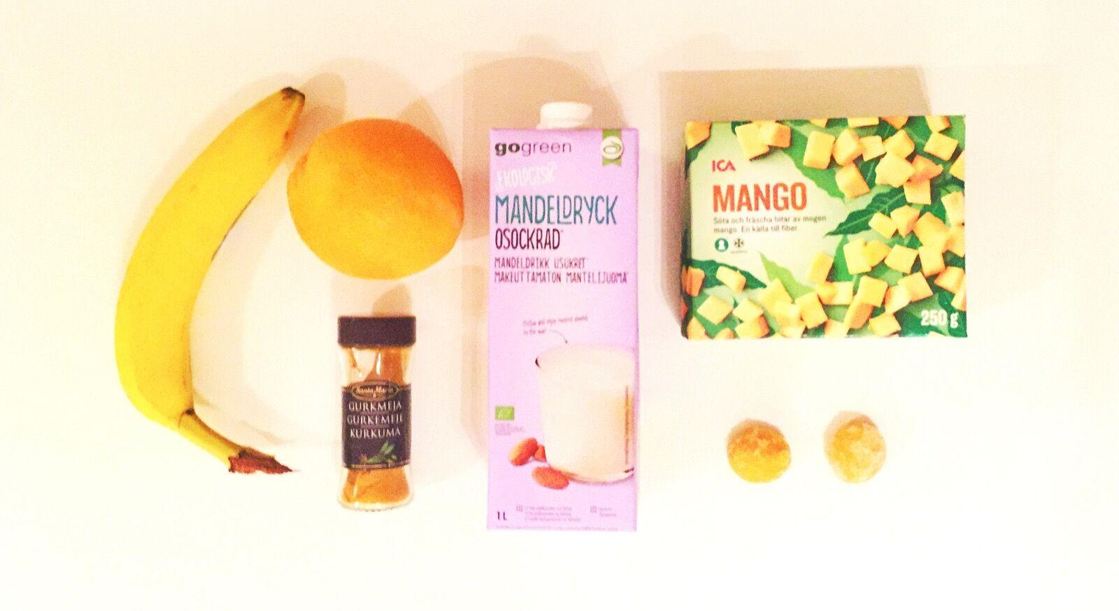 Det krävs inte så fasligt många ingredienser för en riktigt god och C-vitaminboostande smoothie!