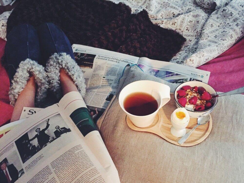 Frukost i sängen.