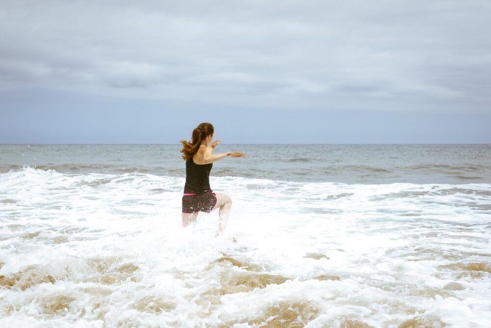 Lisa Beskow - löpning i vattnet